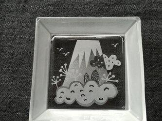 角皿   雲富士の画像