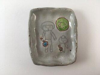 かるた豆皿-むしめがね-の画像