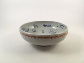 赤リボン小鉢の画像