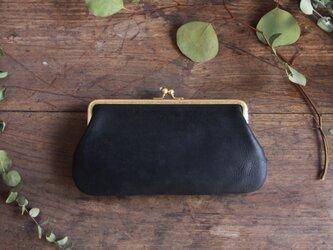 がま口財布 [Una borsa] クロの画像