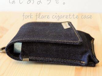 タバコケース type2 シガレットケース オーダー対応 岡山産デニム 真田紐の画像