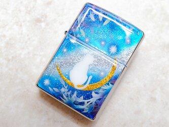 ZIPPO 猫と月~星に願いを~ ジッポ ライター 箱付きの画像