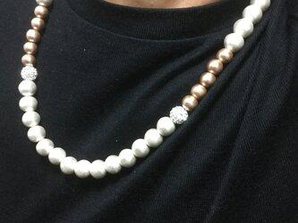 コットンパールのネックレスの画像