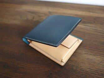 二つ折り財布:SLOW(コインポケットのボタンが隠れる仕様)の画像