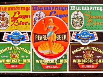Vintage ラベルコラージュAセット(Austria) DA-CO074の画像