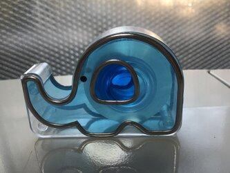 ミニテープカッター(ぞう 水色)の画像