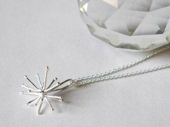 Sparkler necklace(sv*40㎝)★線香花火★シルバー★クリスマス★雪の結晶★の画像