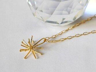 再販★Sparkler necklace(sv*K22GP*K14gf*40㎝)★線香花火★シルバー★クリスマス★雪の結晶★の画像