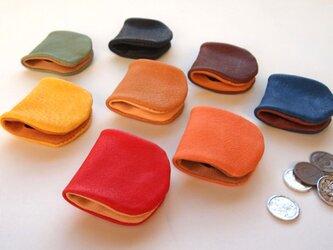 ぶた革*やわらかコインケース【定番カラー】8色*コンパクトな小銭入れ*の画像