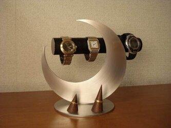 NEW!クリスマスプレゼントに♪ 三日月ムーン腕時計スタンドブラック 指輪スタンドの画像