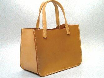 ヌメ栃木レザー ミニトートバッグの画像