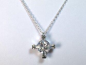 The Cross Division Pendant Silver CubicZirconia シルバー キュービックジルコニアの画像