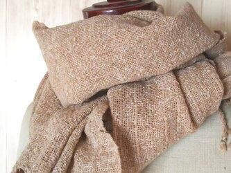 手織り 上質真綿ネップ シルクストール 216の画像