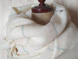 手織り ふんわりカシミヤ綾織りストール 126の画像