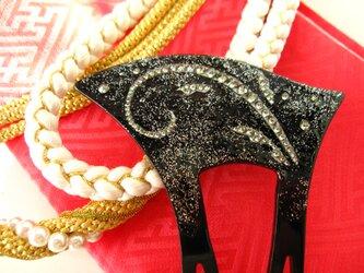 スワロフスキーのかんざし ブラックダイヤの画像