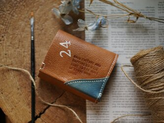 ★M様専用★山羊革の小銭入れがガバッと開く三つ折り財布の画像
