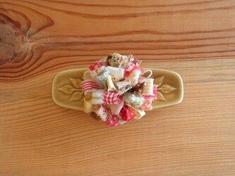 裂き布のお花 コサージュ3の画像