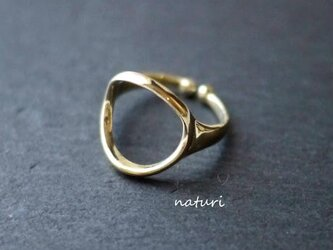 【luna】brass moon ringⅡの画像
