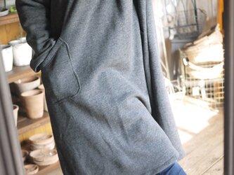 綿100裏起毛ラウンド襟ワンピースの画像