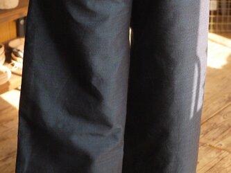 正絹100結城紬の幅広ストレートパンツの画像
