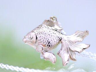 金魚/ピンクシルバーペンダント/pinksilver/40cmAJチェーンの画像