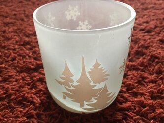 ホワイトクリスマスグラスー森の画像