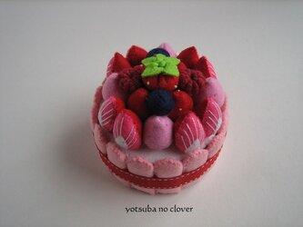 《直径8cm》クリームといちごのケーキ②の画像