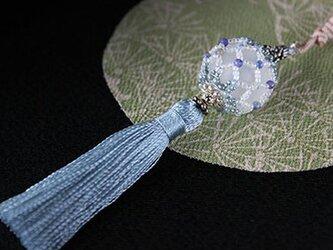 帯飾り*久寿玉(氷襲)の画像