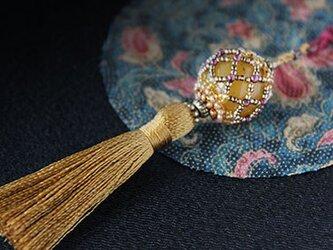 帯飾り*久寿玉(金茶)の画像