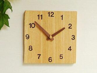 20cm×20cm 掛け時計 オーク【1728】の画像