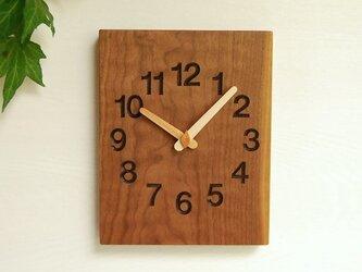 19cm×24cm 掛け時計 ウォールナット【1731】の画像