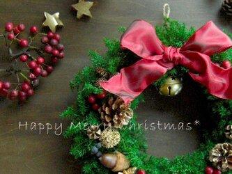 限定☆フォレストグリーンのオールドカラークリスマスリースの画像