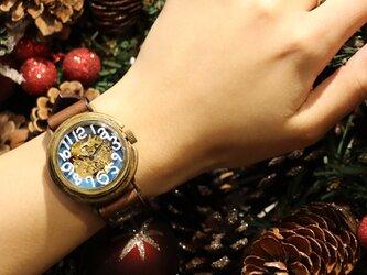 手作り腕時計 自動巻式 スケルトン 機械式腕時計 floatの画像