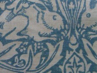 ウィリアムモリスの生地でつくった座布団カバー [BR青1八端]の画像