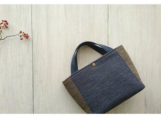 裂き織りのバッグ マルシェ風の画像