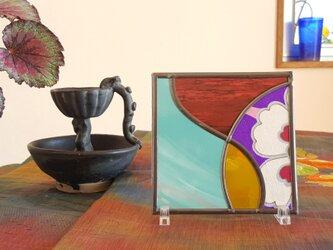 卓上アート アイアンスタンド付『和モダン』の画像