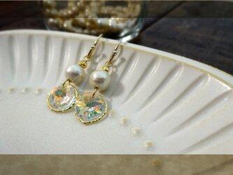 swarovski×コットンパール pierce・earringの画像