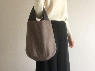 しずく型 ウール&麻 シンプルバッグの画像