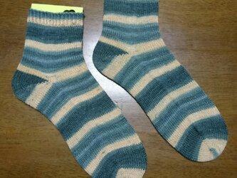 手編み靴下 opal 9116の画像