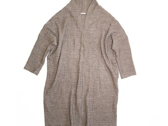◇◆linen wool mix highneck onepiece_brownの画像