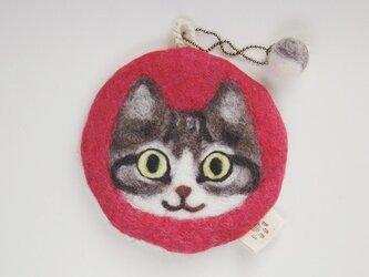 いろいろ使える猫顔フェルト(きじしろ)の画像