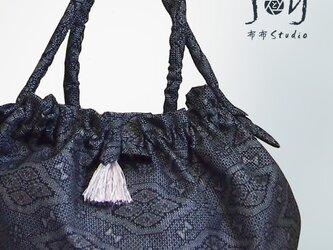 大島紬2WAYバッグ【1点もの】の画像