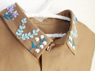 前後リバーシブルタイプのつけ襟~ノスタルジックな付け襟~の画像