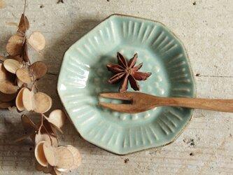 豆皿 たんぽぽ エメラルドグリーン系の画像