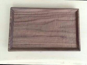 木のトレー ウォールナットの画像