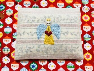 刺繍のティッシュケース☆クリスマスの画像