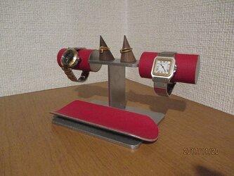 新作 レッド腕時計、ダブルリング、小物入れスタンド の画像