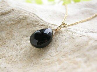 14kgf モリオン黒水晶 マロンカット ネックレス 天然石の画像