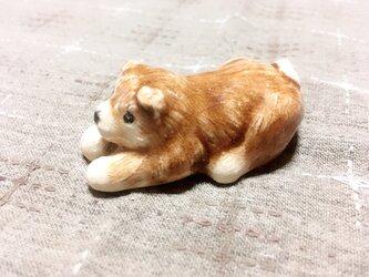 犬 箸置き(芝)の画像