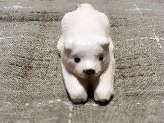 犬 箸置き(白犬)の画像